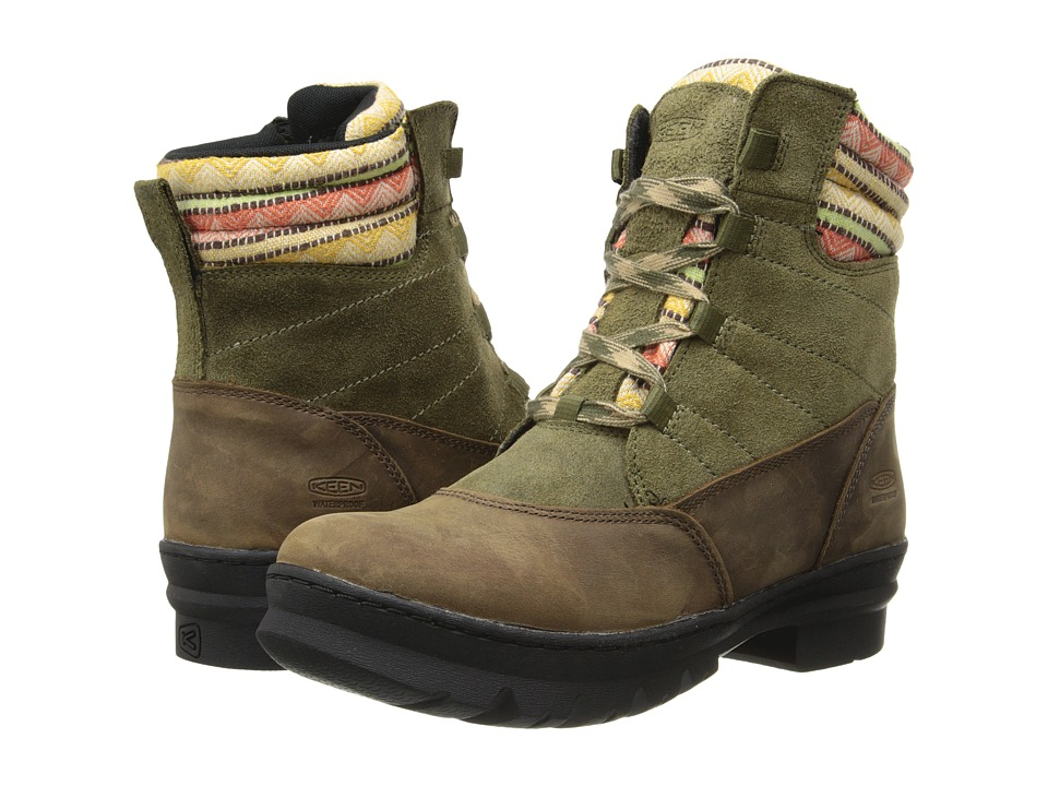 Keen - Wapato Mid WP (Burnt Olive) Women's Lace-up Boots