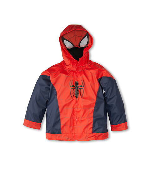 Western Chief Kids - The Ultimate Spider-Man Raincoat (Toddler/Little Kids/Big Kids) (Navy) Boy's Coat