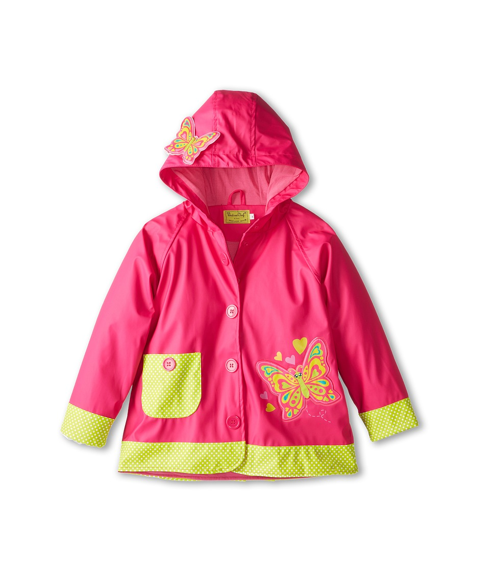 Western Chief Kids - Butterfly Star Raincoat (Toddler/Little Kids) (Pink) Girl's Coat