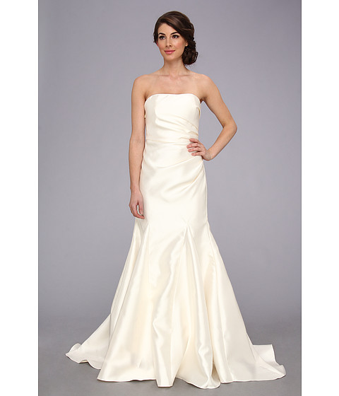 Badgley Mischka - Satin Strapless Gown (Ivory) Women's Dress
