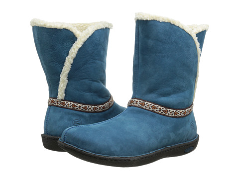 Keen - Galena Mid (Moroccan Blue) Women's Pull-on Boots