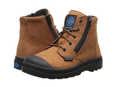 Palladium Kids - Pampa Hi Leather Gusset (Toddler) (Tortise Shell/Black) Kids Shoes
