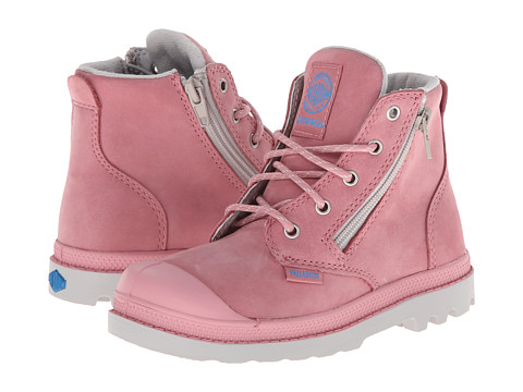 Palladium Kids - Pampa Hi Leather Gusset (Toddler) (Blush/Vapor/Diva Blue) Kids Shoes