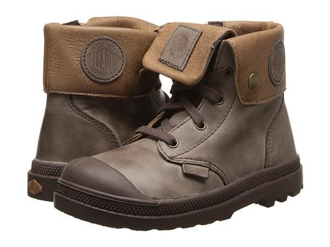 Palladium Kids - Baggy Lea Zipper (Toddler) (Chestnut/Tan) Boys Shoes