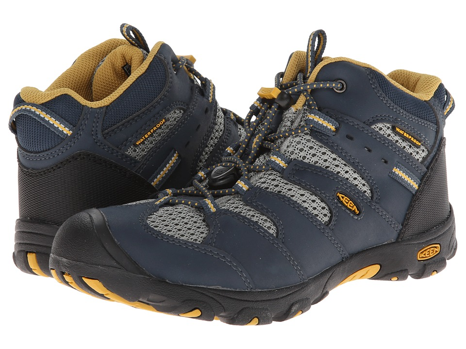 Keen Kids - Koven Mid WP (Little Kid/Big Kid) (Midnight Navy/Tawny Olive) Boy's Shoes