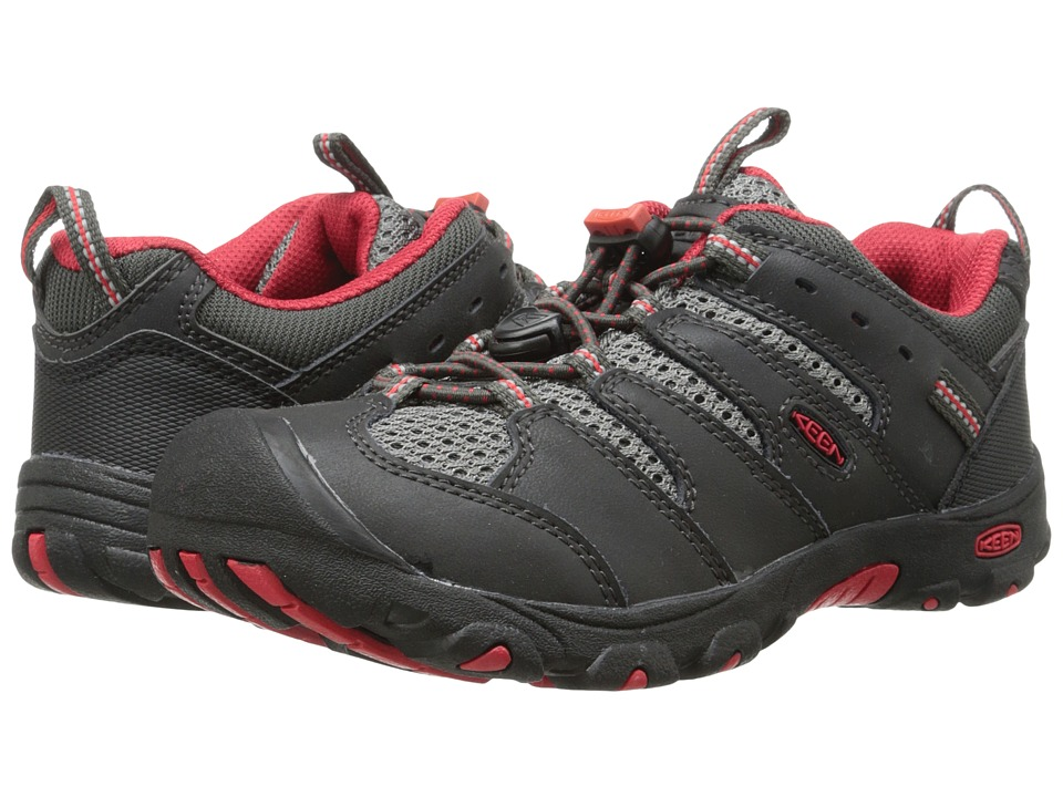 Keen Kids - Koven Low (Little Kid/Big Kid) (Raven/Ribbon Red) Boy's Shoes