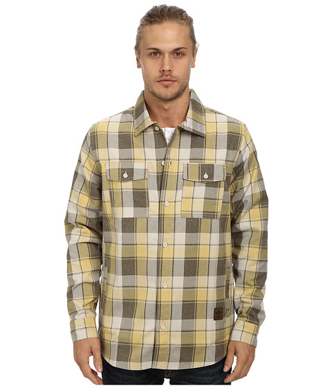 adidas Skateboarding - Snow Lifestyle DWR Flannel Jacket (Dark Cargo/Clear Brown) Men