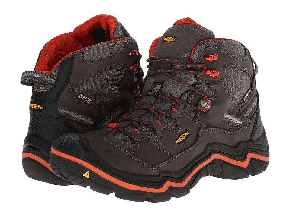 Keen - Durand Mid WP (Magnet/Red Clay) Men's Hiking Boots