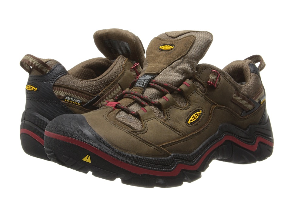 Keen - Durand Low WP (Dark Earth/Red Dahlia) Men's Hiking Boots