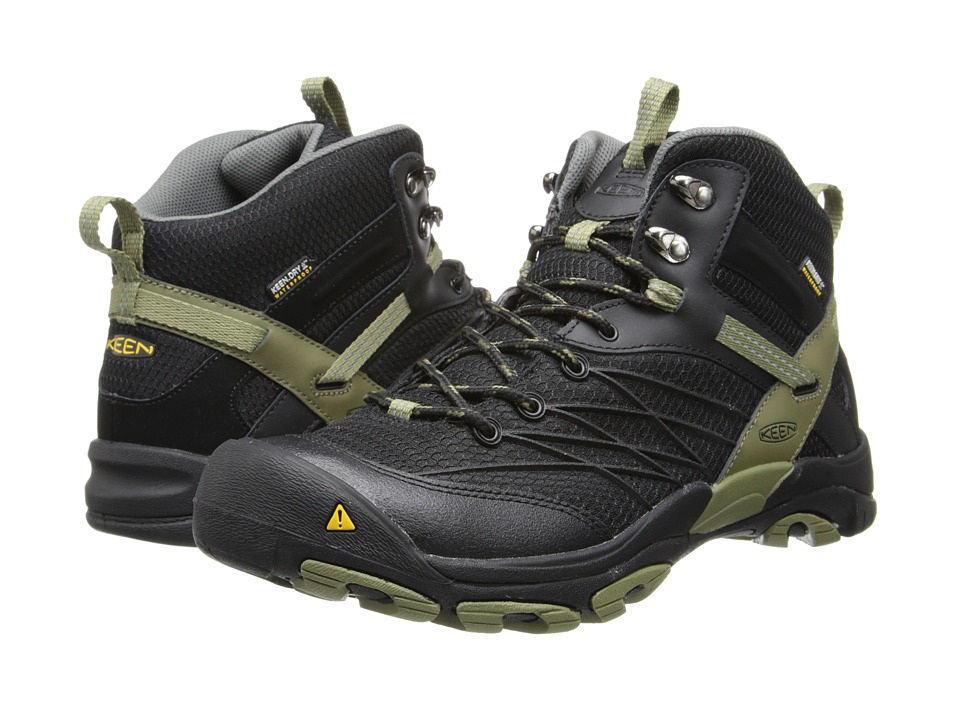 Keen - Marshall Mid WP (Black/Burnt Olive) Men
