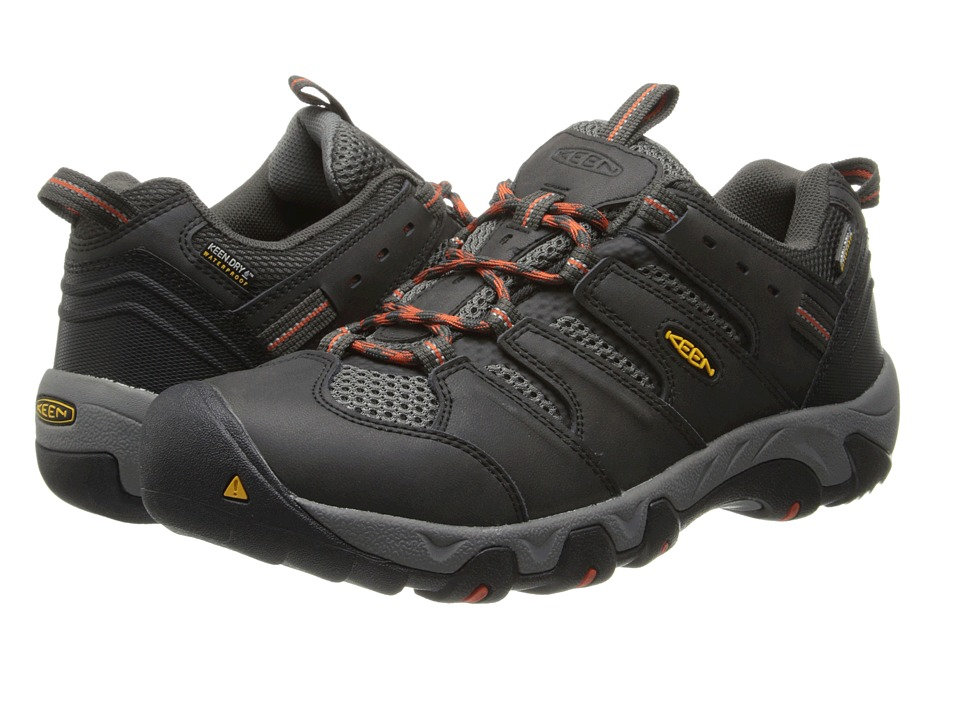 Keen - Koven Low WP (Raven/Red Clay) Men's Hiking Boots