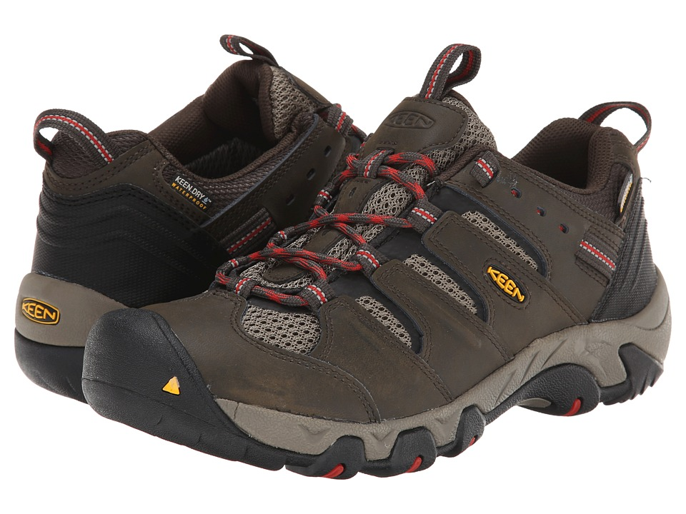 Keen - Koven Low WP (Black Olive/Bossa Nova) Men's Hiking Boots