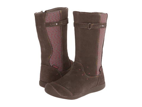 Keen Kids - Punky High Boot (Little Kid/Big Kid) (Black Olive/Shocking Pink) Girls Shoes