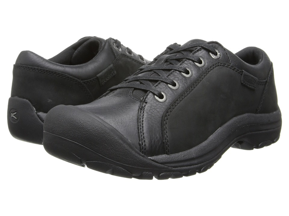 Keen - Briggs Leather (Black) Men's Lace up casual Shoes