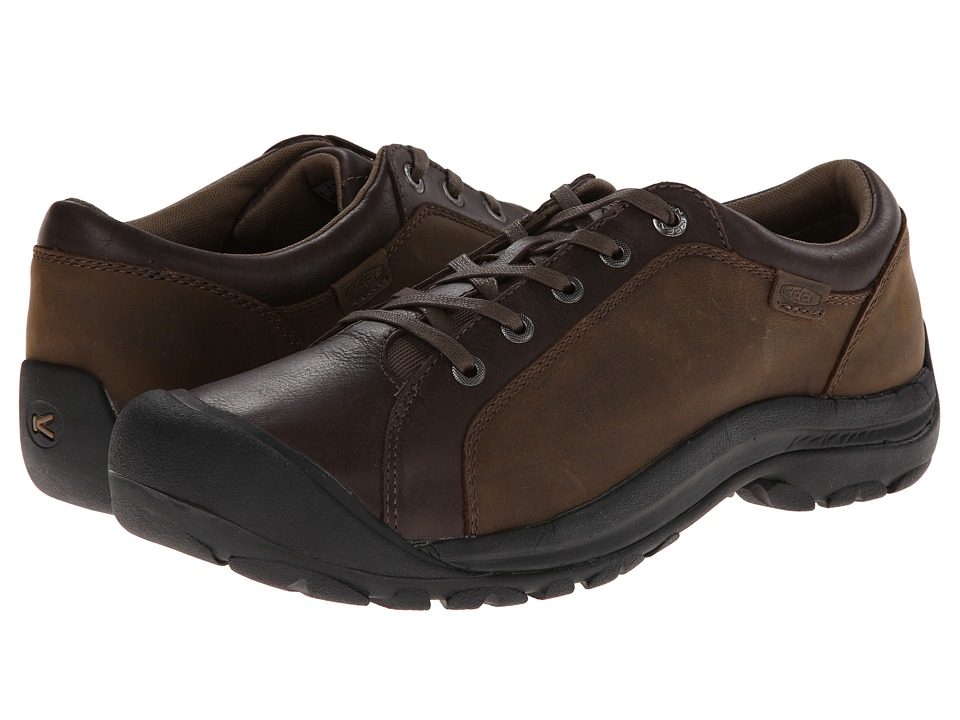 Keen - Briggs Leather (Cascade Brown) Men's Lace up casual Shoes