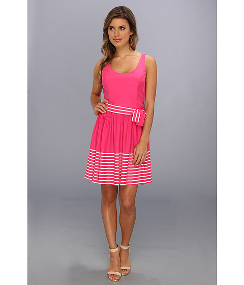 Amanda Uprichard - Caf Dress (Raspberry French Stripe) Women