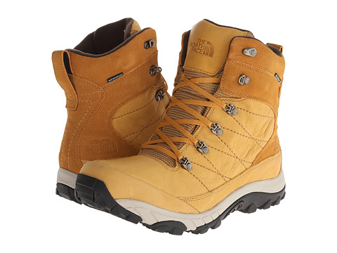 The North Face - Chilkat Leather (Spruce Yellow/Demitasse Brown) Men's Cold Weather Boots