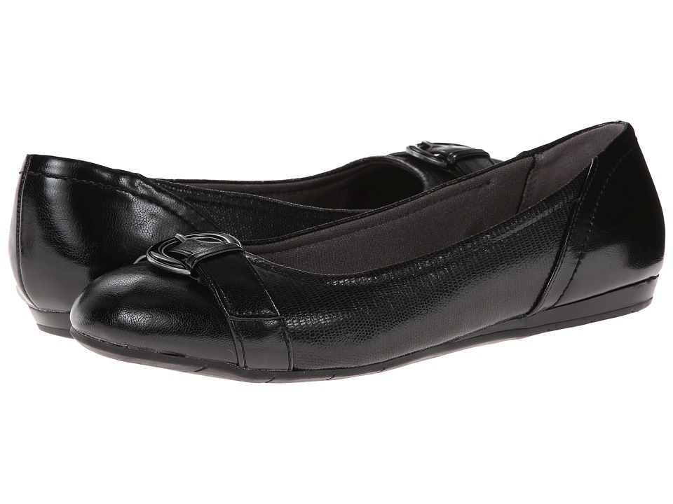 LifeStride - Nero (Black Disco Fab/Tess) Women's Flat Shoes