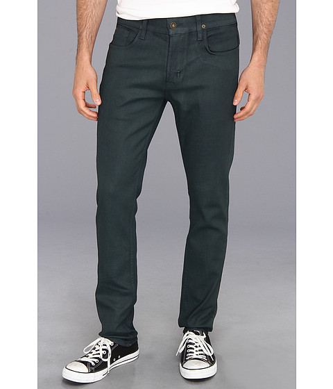 Hudson - Sartor Slouchy Skinny in Hunter Green Coated (Hunter Green Coated) Men's Jeans