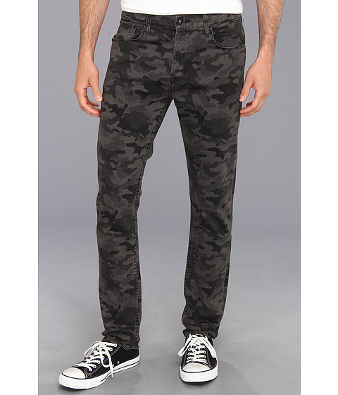 Hudson - Sartor Slouchy Skinny in Charcoal Camo Print (Charcoal Camo Print) Men's Jeans