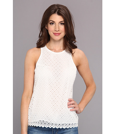 Vince Camuto - Sleeveless Diamond Embroidered Blouse (New Ivory) Women's Blouse