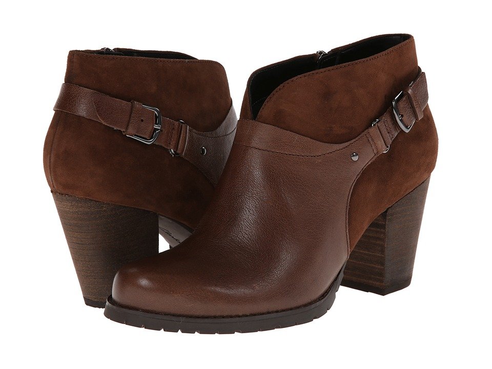 Clarks - Mission Parker (Brown Leather/Brown Suede) Women