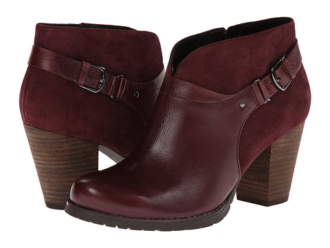 Clarks - Mission Parker (Burgundy Leather/Burgundy Suede) Women