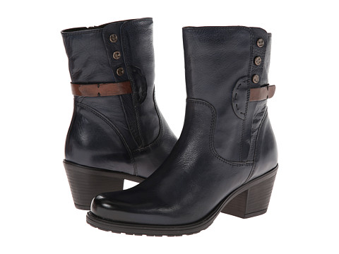 Clarks - Maymie Skye (Navy Leather) Women's Boots