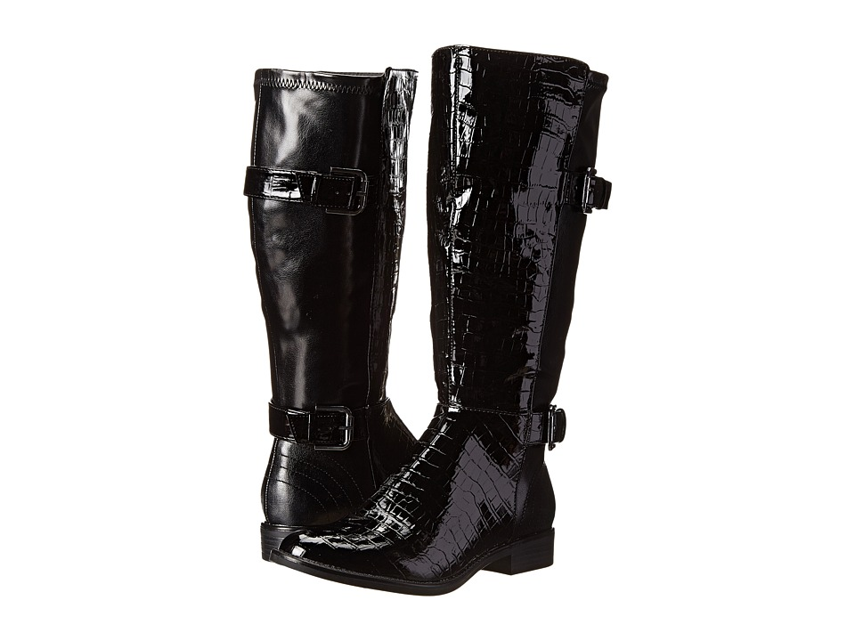 LifeStride Rockin (Wideshaft) (Black Patent Croc/Tess) Women