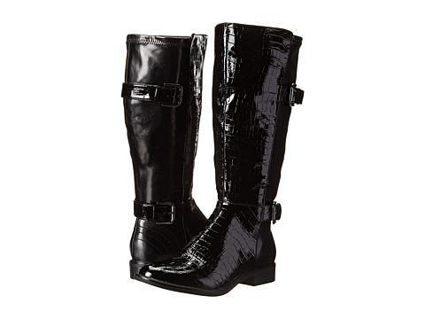 LifeStride - Rockin (Wideshaft) (Black Patent Croc/Tess) Women