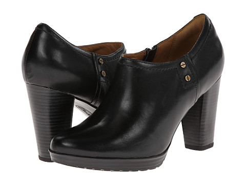 Clarks - Lida Palmer (Black Leather) High Heels