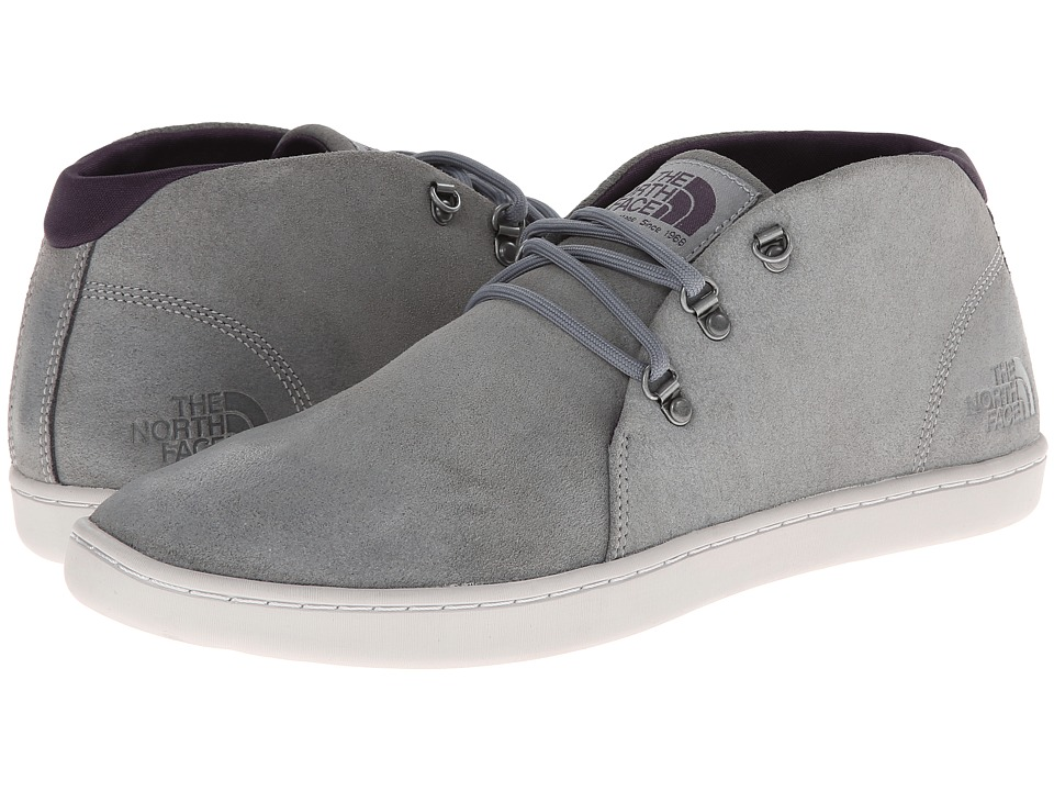 The North Face - Base Camp Leather Chukka (Monument Grey/Dark Eggplant Purple) Men's Shoes