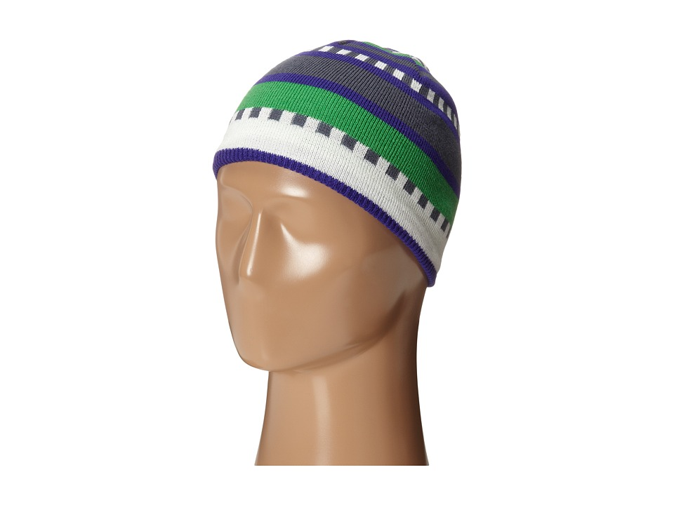 Salomon - Junior Stripe Beanie (Spectrum Blue) Beanies