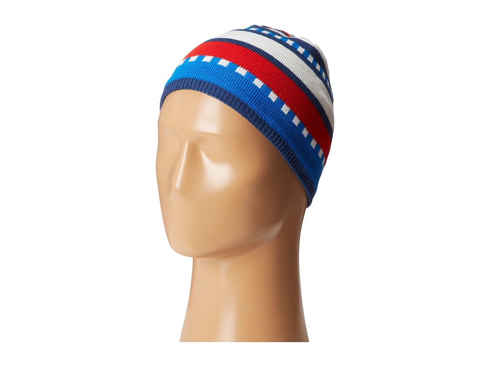 Salomon - Junior Stripe Beanie (Midnight Blue) Beanies