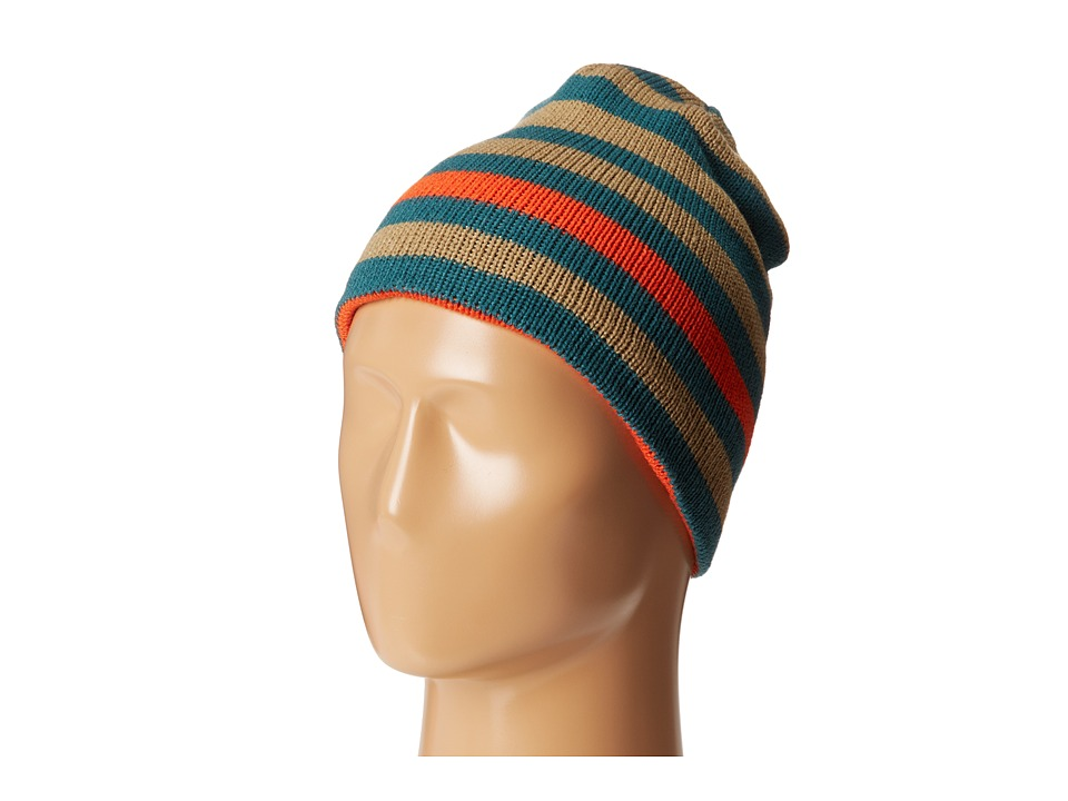 Salomon - Stripe Reversible Beanie (Deep Ivy Green) Beanies