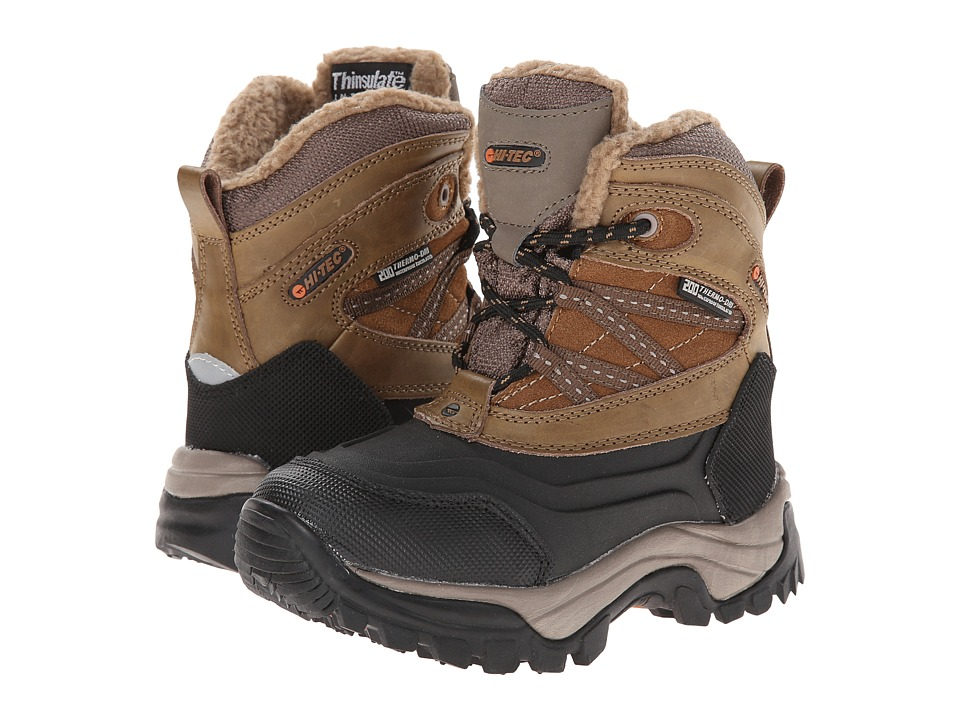 Hi-Tec Kids - Snow Peak 200 WP Jr (Toddler/Little Kid/Big Kid) (Tan/Black) Kid's Shoes