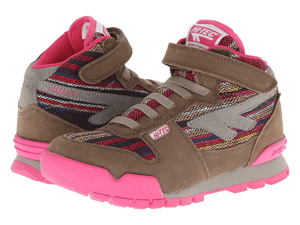 Hi-Tec Kids - Sierra Lite Wooly Jr (Toddler/Little Kid/Big Kid) (Light Taupe/Apollo Pink) Kid