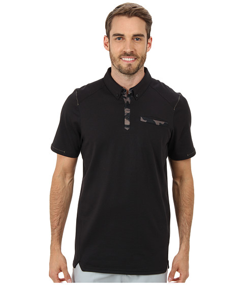 Oakley - Andrews Camo Polo (Jet Black) Men