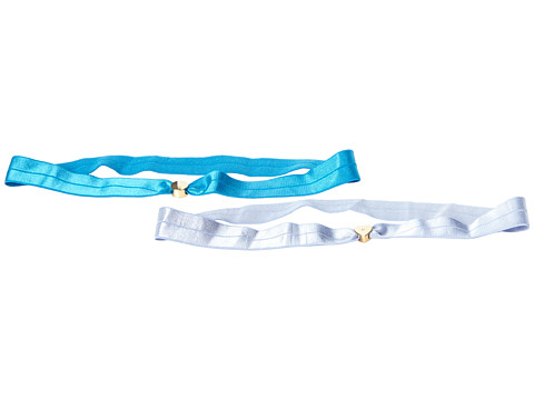 Marc by Marc Jacobs - Double Logo Headbands (Blueglow/Blue Quartz) Headband