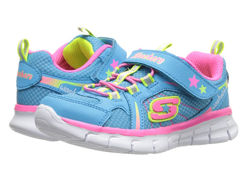 SKECHERS KIDS - Synergy 80868N (Toddler/Little Kid) (Blue/Multi) Girls Shoes