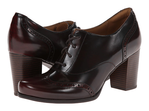 Clarks - Ciera Pier (Burgundy Leather) High Heels
