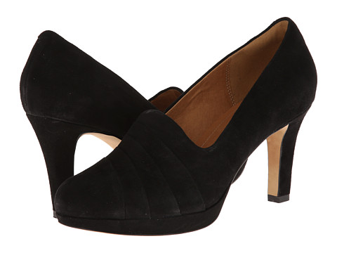 Clarks - Delsie Joy (Black Suede) High Heels