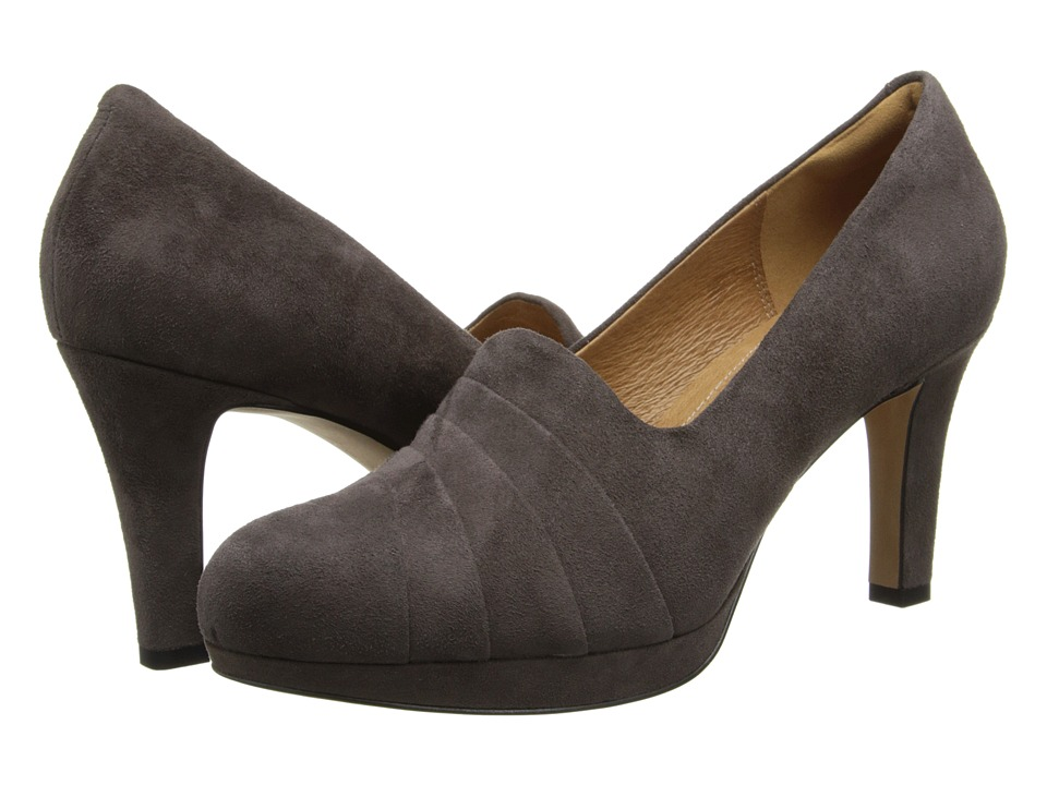 Clarks - Delsie Joy (Dark Taupe Suede) High Heels