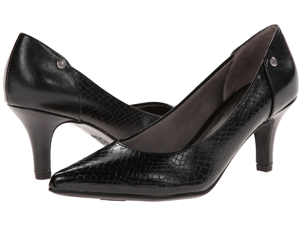LifeStride - Star Too (Black Crinkle Snake/Tess) Women's 1-2 inch heel Shoes