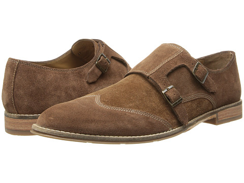Hush Puppies - Style Monk Strap (Brown Suede) Men's Slip-on Dress Shoes