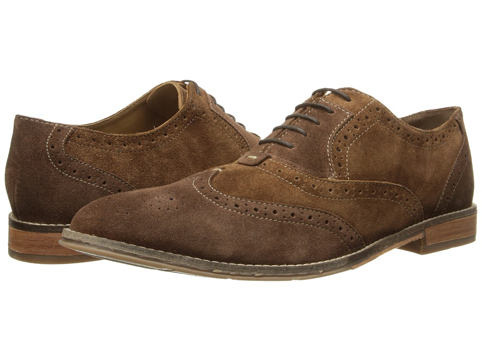 Hush Puppies - Style Brogue (Brown Suede) Men's Lace Up Wing Tip Shoes