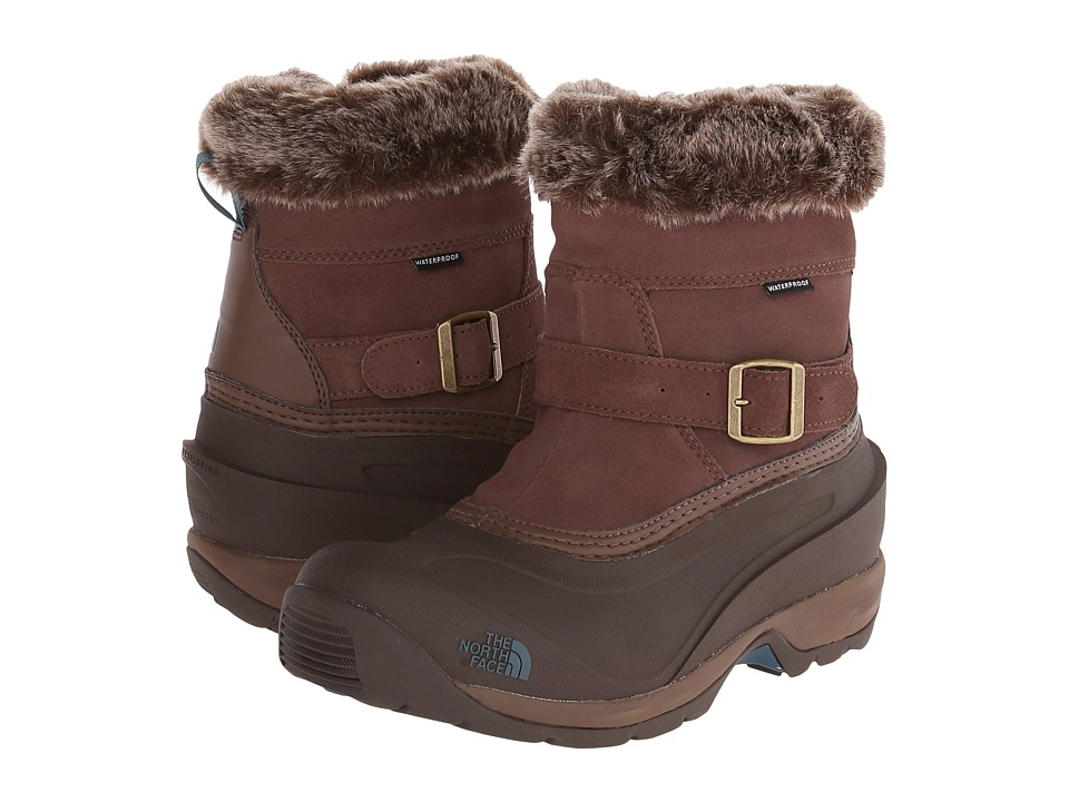 The North Face - Chilkat III Pull-On (Rain Drum Brown/Mediterranea Green) Women's Cold Weather Boots
