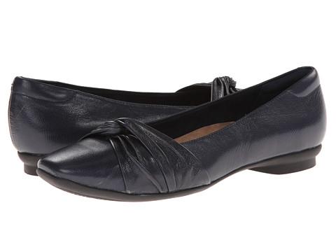 Clarks - Candra Gleam (Navy Leather) Women