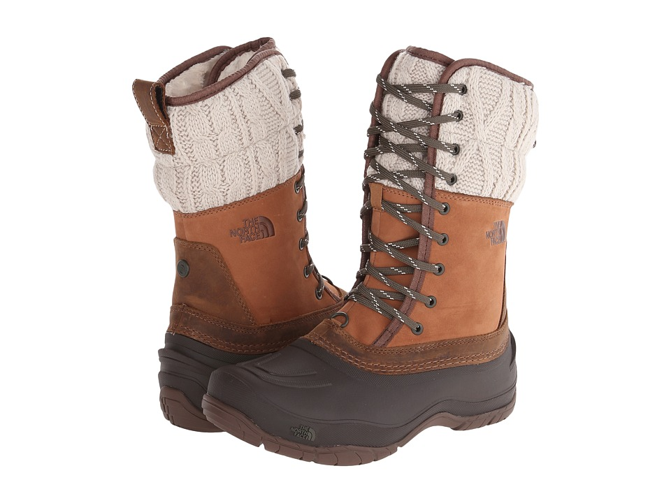 The North Face - Shellista Lace Mid (Dachshund Brown/Demitasse Brown) Women's Cold Weather Boots
