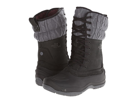 The North Face - Shellista Lace Mid (TNF Black/Zinc Grey) Women's Cold Weather Boots